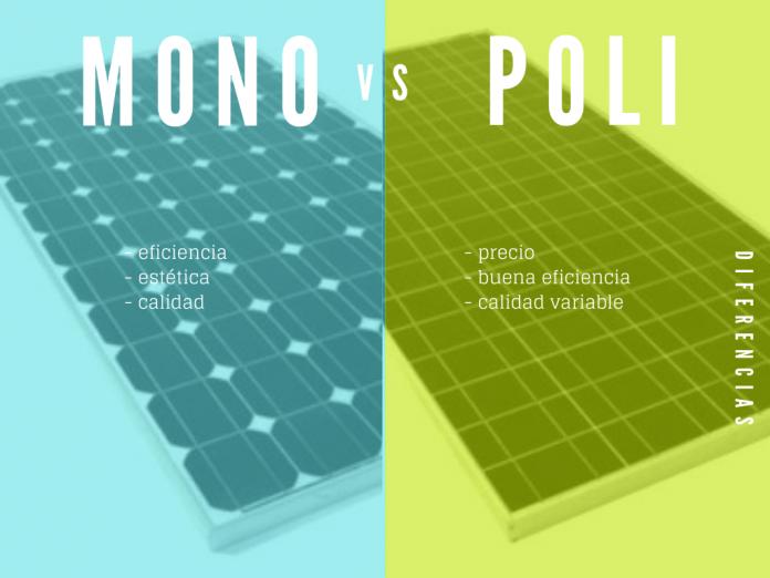 Panel mono vs poli cristalino